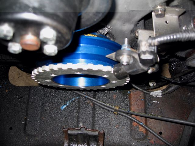 MK1 CRANK PULLEY WITH EDIS TRIGGER WHEEL STARION BLUE